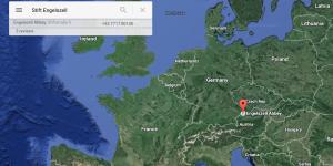 Engelszell European Map