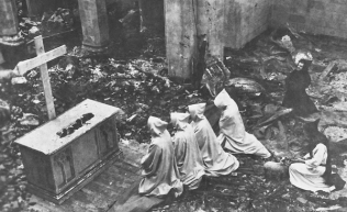 Our Lady of the Valley After-the-fire-March-1950
