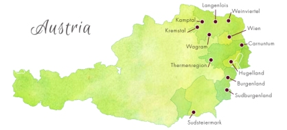 austria wine map